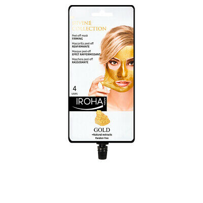Cosmética Iroha mujer GOLD peel-off firming mask 4 uses