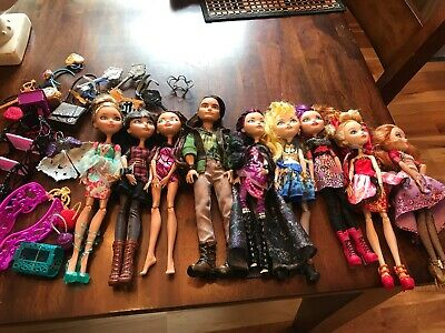 Monster High Ever After High Doll Lot of 9 Condition With Clothing