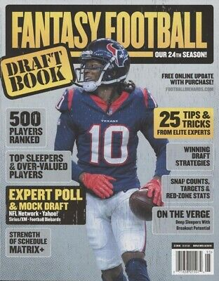 Fantasy Football Draft Book 2019 Deandre Hopkins