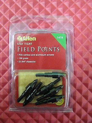 """Allen STAY-TIGHT 11//32/"""" FIELD POINT 100 grain O-RING 6 pack 1479"""