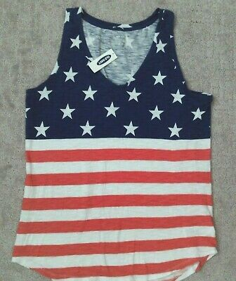 Vintage Style American Flag Old Navy Tank Top_ Size Small_ New with tags