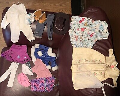 American Girl Doll Clothes Shoes Dress Jeans Breeches Skirt Tights Boots Heelys
