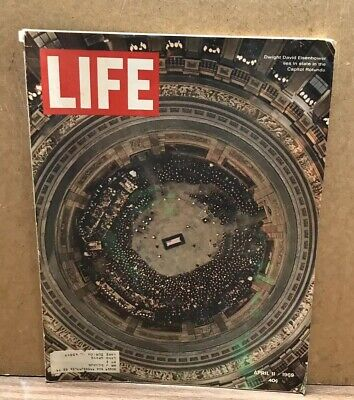 1969 April 11 LIFE Magazine Dwight Eisenhower Lies In State Great Cover (Box 19)
