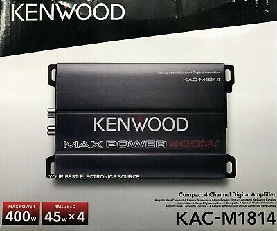 NEW Kenwood KAC-M1814 Compact 4-Channel Car Stereo Amplifier KACM1814