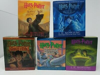 Harry Potter Audio Book CD lot 5 complete series