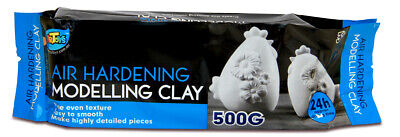 5 PCS x 500g Air Hardening Modelling Clay AIR DRY CLAY White Art Craft Supply