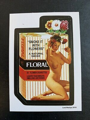 2019 Lost Wacky Packages VARIATION SERIES Nude FLORAL X
