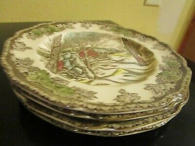 4 Johnson Bros Friendly Village Bread & Butter Plates  Made In England -Vgc