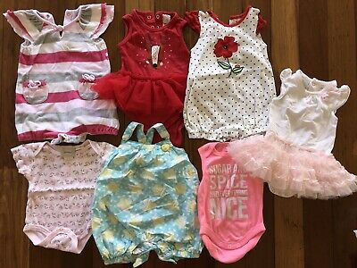 Baby Girl Clothes Romper Summer Clothes Bulk Bundle Size 00 3 - 6 Months