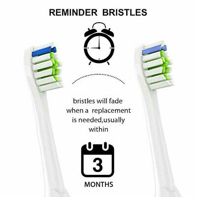 4/8Pcs Electric Toothbrush Heads Replacement For Philips HX6064 Sonicare Clean