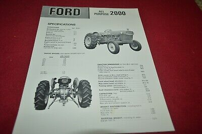 Ford 2000 Tractor Dealer's Brochure AMIL15