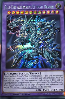 Blue-Eyes Alternative Ultimate Dragon Prismatic Secret Rare TN19 EN001 Ships0829
