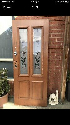 front door Real Solid Timber In Good Condition - Measurements 2040x820