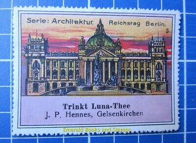 Cinderella/Poster Stamp - Germany 1900s Luna Thee Reichstag 3564