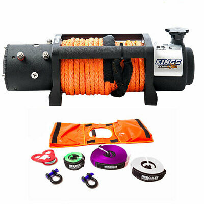 12000lb Winch Rope Domin8r X with 4WD Winch Recovery Kit Essential 4x4