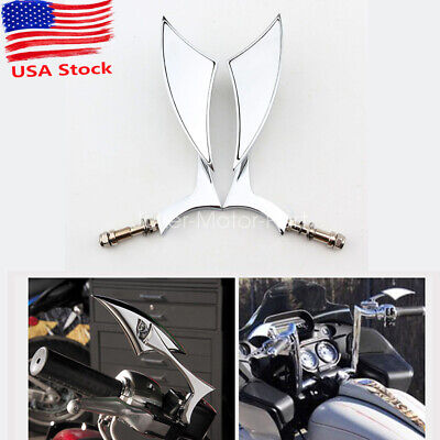 Black Teardrop Motorcycle Side Mirrors For Harley Dyna Softail Sportster Touring