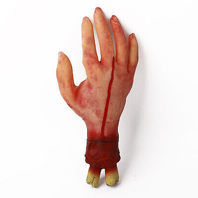 Bloody Horror Scary Halloween Prop Fake Severed Lifesize Arm Hand House hi