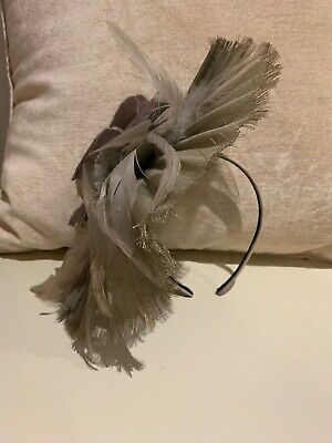 Morgan And Taylor Fascinator Pale Grey And Mauve Colour With Headband