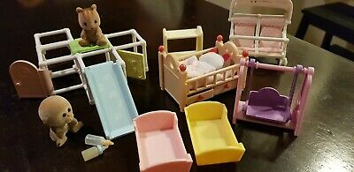 Sylvanian families Babies And Furniture.