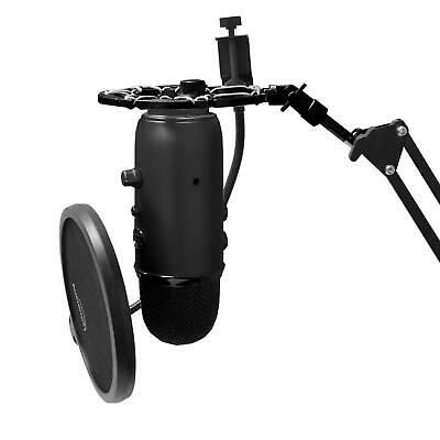 Snowball Shock Mount Mic Hold For Blue Yeti Microphone Boom Arm Stand Adjustable