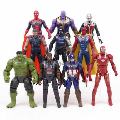 10pcs Marvel Avengers Eroes Thanos Hulk LED Action figure PVC Giocattolo 7 ""