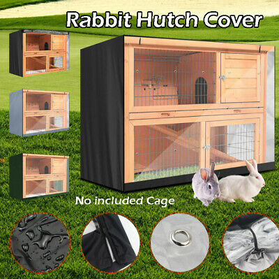 4FT Waterproof Large Double Rabbit Hutch Cover Guinea Pig Deluxe Pet Covers UK