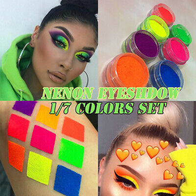 Neon Eyeshadow Pigment Matte Mineral Spangle Nail Powder Shining Eye Shadow