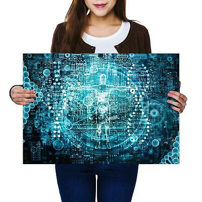 A2 | Biotech Computer Science Size A2 Poster Print Photo Art Student Gift #3102