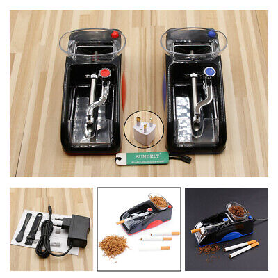 DIY Electric Automatic Cigarette Roll Machine Tobacco Injector Make Roller UK