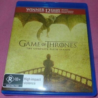 GAME OF THRONES SEASON 5 blu-ray REGION B series COMPLETE FIFTH SEASON hbo