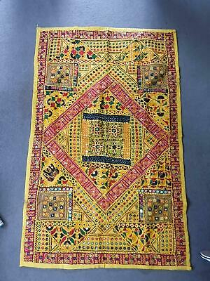 Indian handmade textile artwork with mirrors