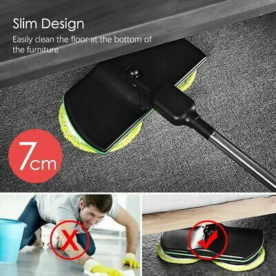Rechargeable 360° Rotation Cordless Floor Cleaner Scrubber HaKWheld Mop KW