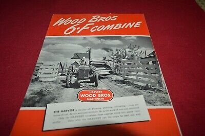 Ford Tractor Wood Bros.WB 6C Combine Dealer's Brochure AMIL15