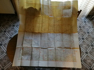 The original German military map only for service use. Dimensions 130cm x115cm