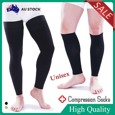 Open Toe Medical Compression Socks Anti Fatigue Varicose Stockings Travel Flight
