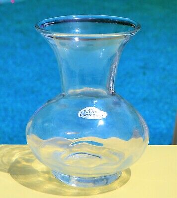 Vintage Blenko Clear Art Glass Studio Watch Pitcher   g3