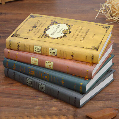 A5 Retro Paper Notebook Journal Diary 1 pc Hard Cover Cardboard Blank 320 Pages