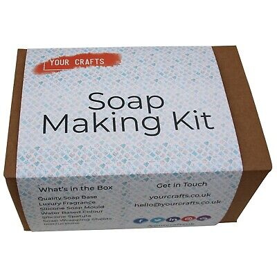 Soap Making Kit Set - Make Own Handmade Soap - Melt & Pour Crystal Clear Base