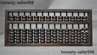 Old Chinese huanghuali wood hand carved Ancient Abacus calculation 150