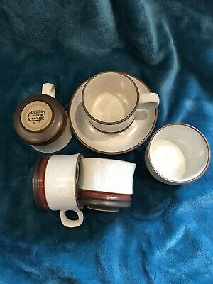 Denby tea cups and saucers