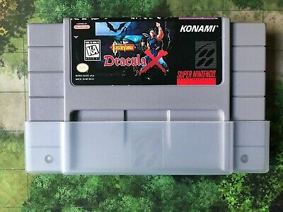 SNES Castlevania Dracula X Authentic & Tested
