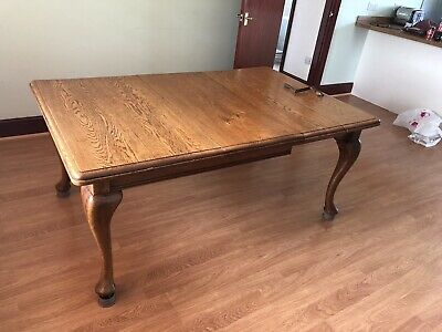 Victorian Oak Wind-out Dining Table