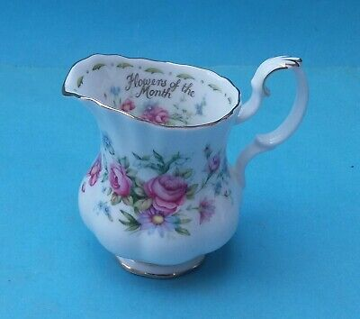 BONE CHINA ROYAL ALBERT FLOWERS OF THE MONTH CREAMER (a)