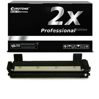 2x Eurotone pro Toner Compatibile per Brother TN-1050 TN1050