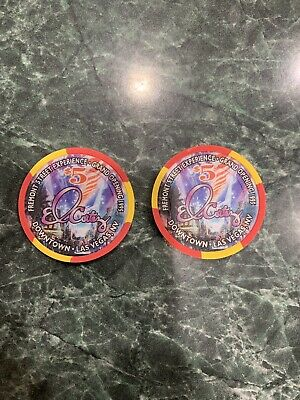 2 Chip Lot Uncirculated 1995 El Cortez Fremont Street Las Vegas Casino $5 Chips