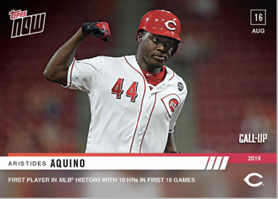 Aristides Aquino - MLB TOPPS NOW® Card 693 - 10 HRS IN THE FIRST 16 GAMES