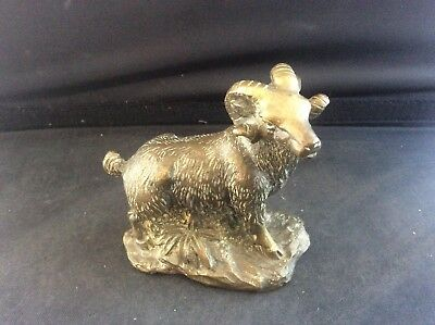 Antique Cast Bronze Brass Ram Sheep c1895 c19th Victorian Nice Detail