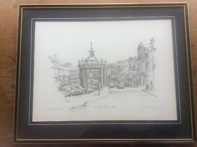 J Steven Dews Pencil Signed Limited Edition EtchIng Print Beverley Market place
