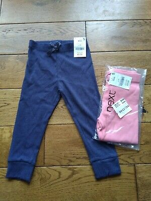 Two Pairs of Baby Girl Ribbed Leggings, Next, 18-24mths, BNWT