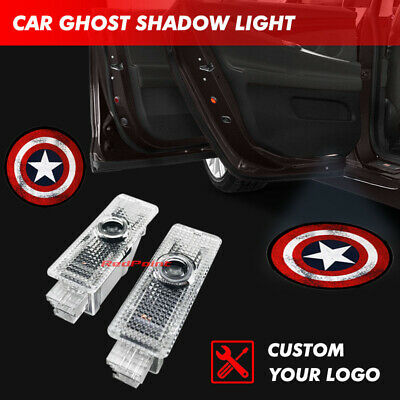 Car Door Courtesy Captain America Shield Projector Ghost Shadow Light For BMW 5
